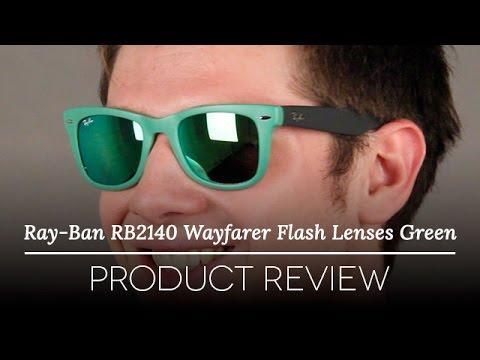 73990aac4cd Ray Ban RB4105 Wayfarer Flash Lenses Green Review - YouTube