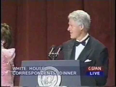 Bill Clinton Bids Farewell at the 2000 White House Correspondents