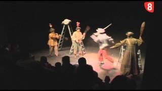 Quijote Clown de Uroc Teatro en Titirimundi en la Cárcel