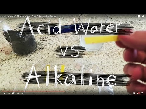 Acidic Water VS Alkaline Water | Don't Drink Distilled Water!