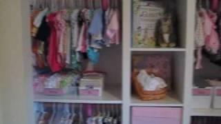 Hannah's Nursery - Closet Makeover