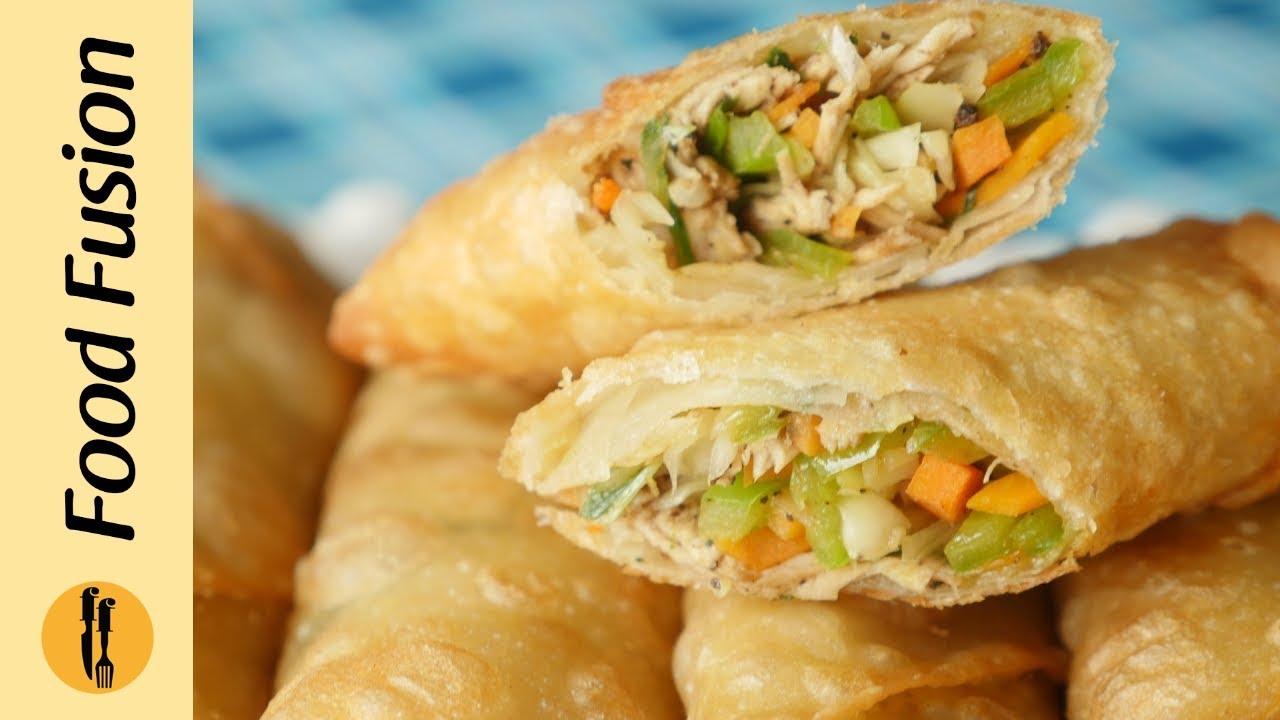 how to make chicken spring roll in urdu