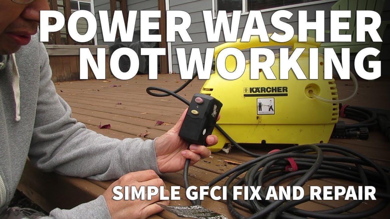 Pressure Washer Repair With Oaonan Gfci Plug Electric Pressure
