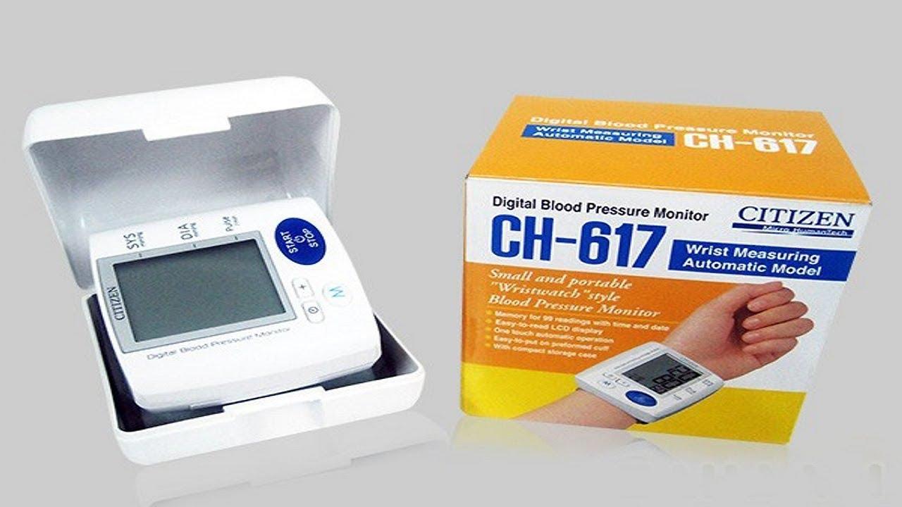 Hướng dẫn đo huyết áp tại nhà bằng máy đo huyết áp cổ tay Citizen CH-617 Nhật Bản chính hãng