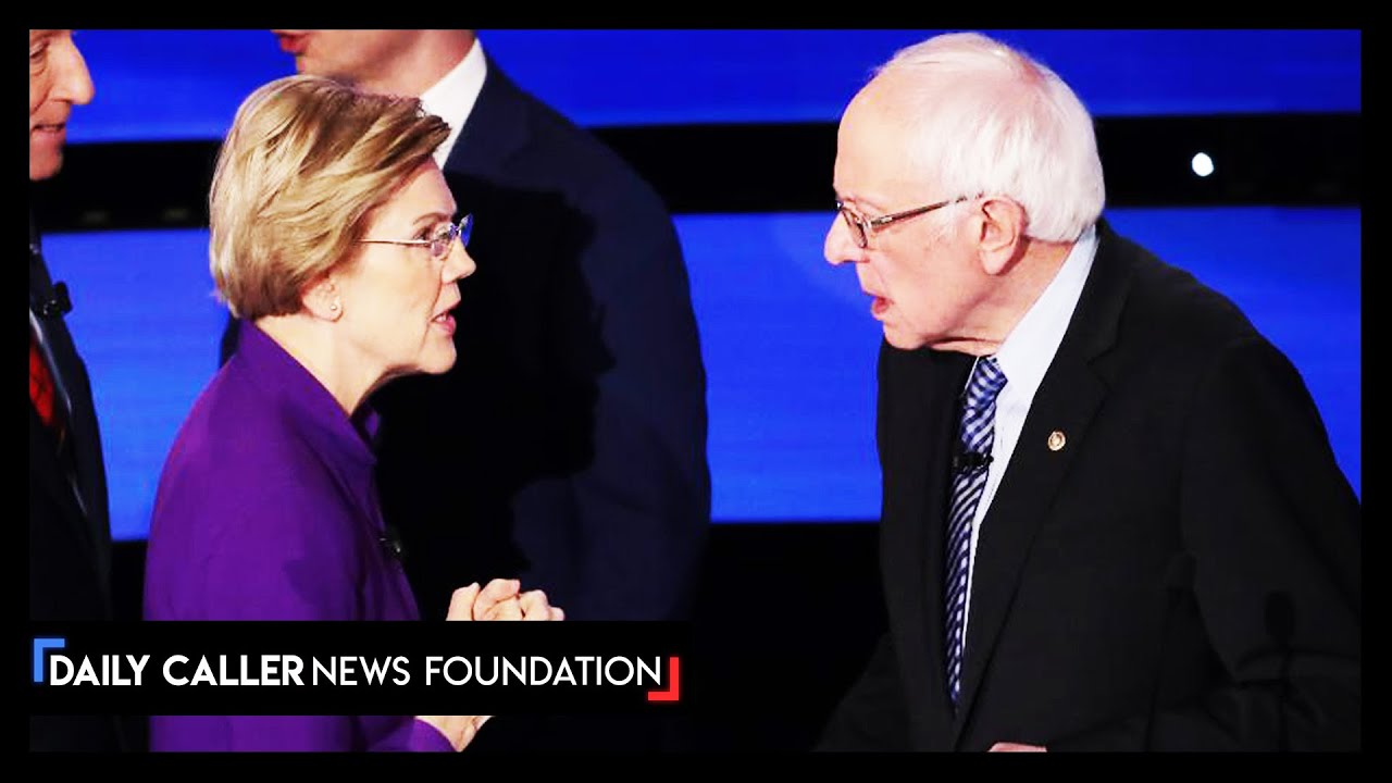 """YOU CALLED ME A LIAR"" Bernie & Warren confrontation caught by CNN mics - DC Shorts"