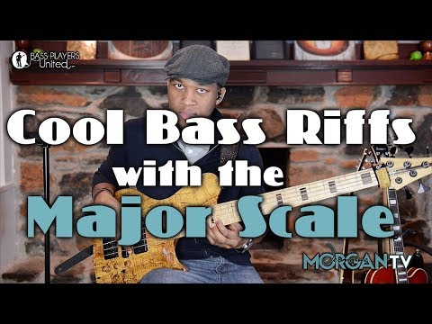 COOL BASS RIFFS WITH THE MAJOR SCALE - JERMAINE MORGAN - JMTV