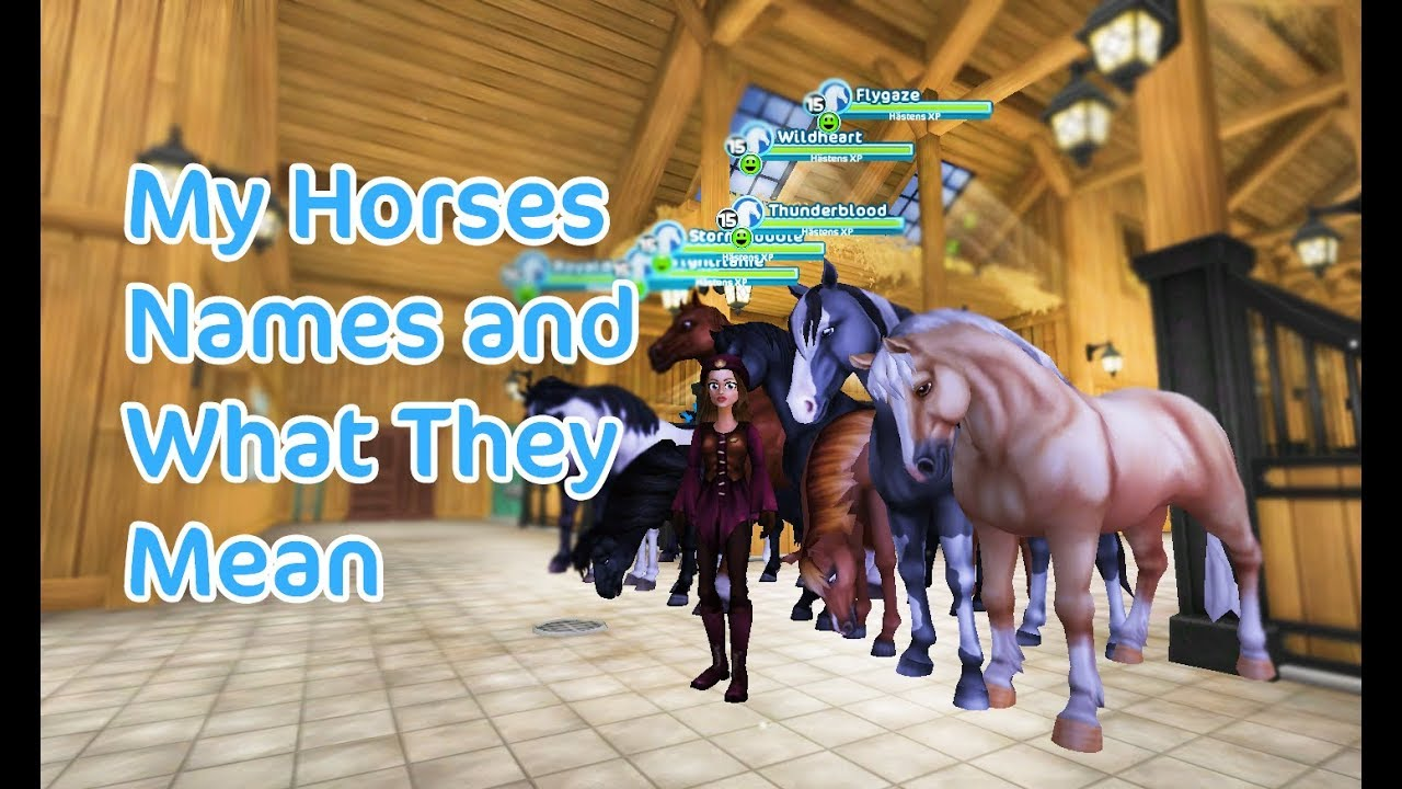star stable online my horses names and what they mean youtube