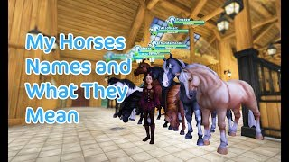 Star Stable Online - My Horses Names and What They Mean