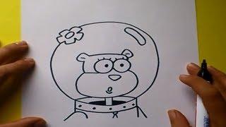 Como dibujar a Arenita paso a paso - Bob esponja | How to draw Arenita - Sponge bob