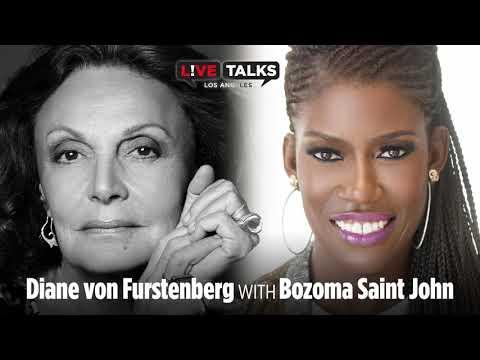 Diane von Furstenberg in conversion with Bozoma Saint John at Live Talks Los Angeles