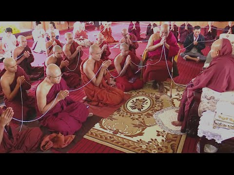 Seth Pirith Chanting By Ven Nauyane Ariyadhamma Maha Thero and bhikkhus for Ven. Pa Auk Sayadaw