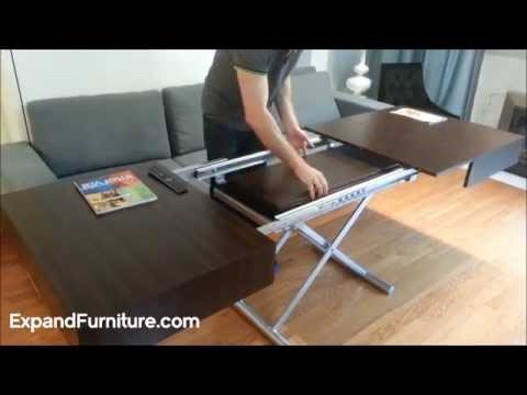 Wall Bed Sofa And Convertible Box Coffee Table Demonstration From Expand Furniture