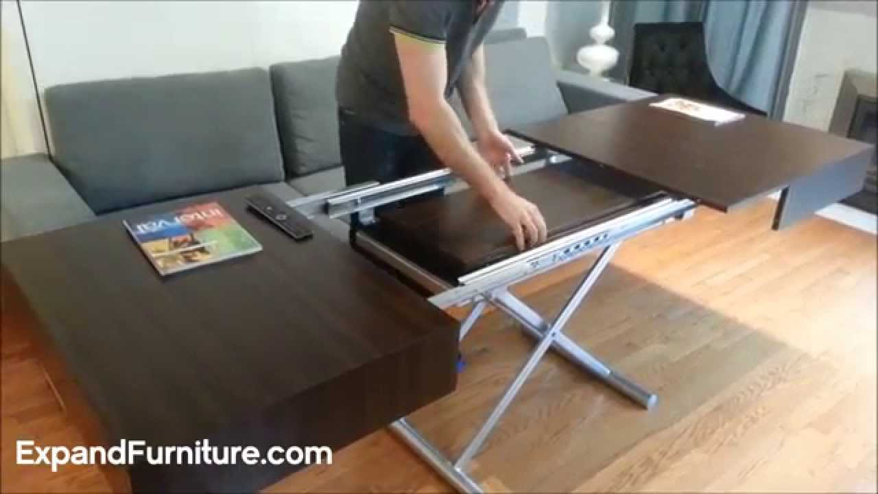 Wall bed sofa and convertible box coffee table demonstration from expand furniture - YouTube