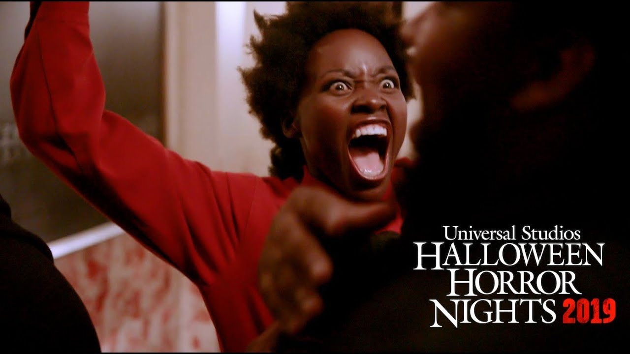 Lupita Nyong'o reprises her role in Us at Universal's Halloween Horror Nights 2019