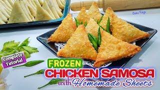 SAMOSA AYAM DENGAN KULIT SAMOSA HOMEMADE  سمبوسة بحشوة الدجاج