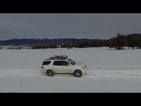 Toyota Sequoia snow wheeling 4k