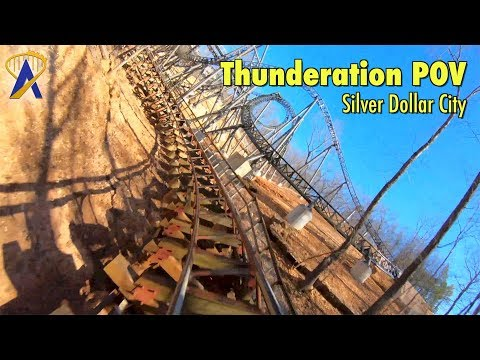 Thunderation Roller Coaster POV at Silver Dollar City