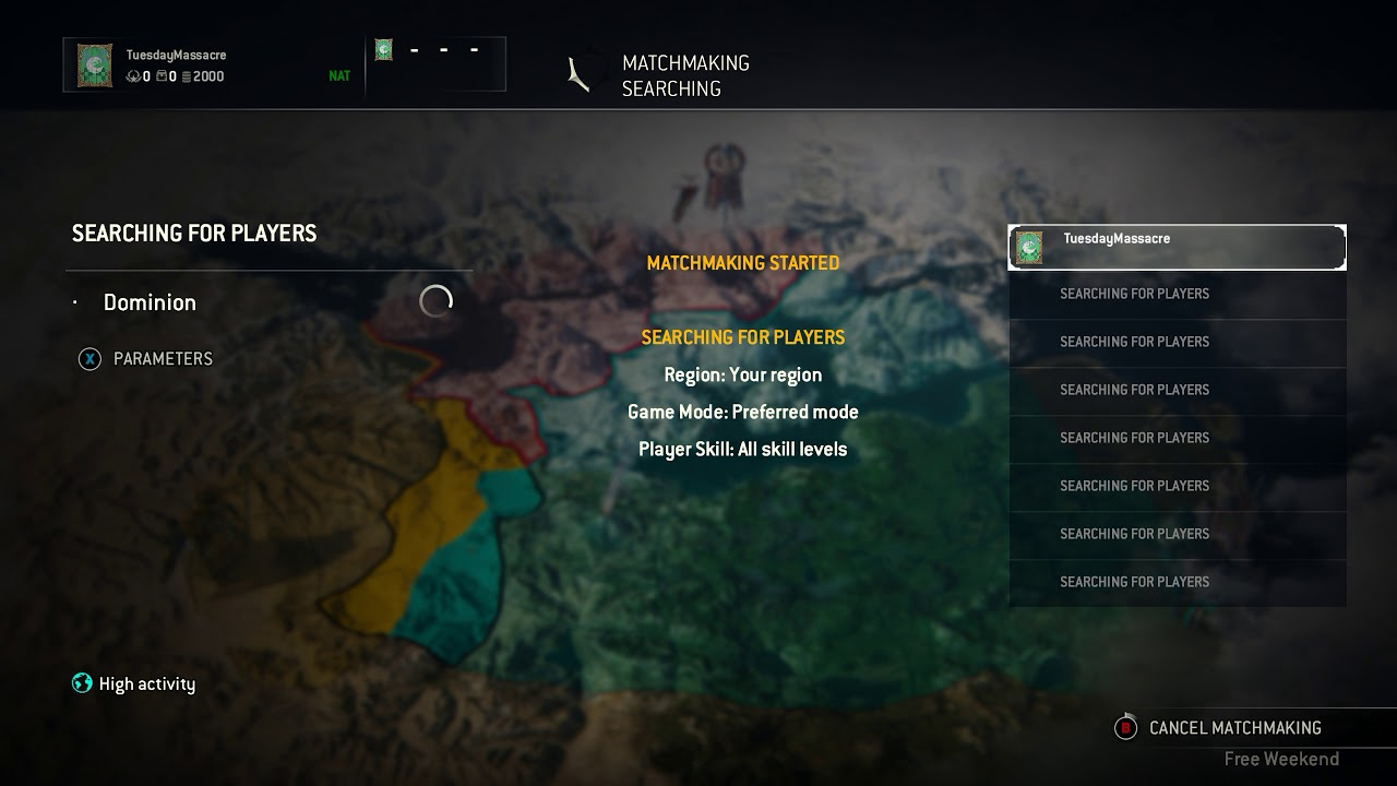 For honor matchmaking skill level