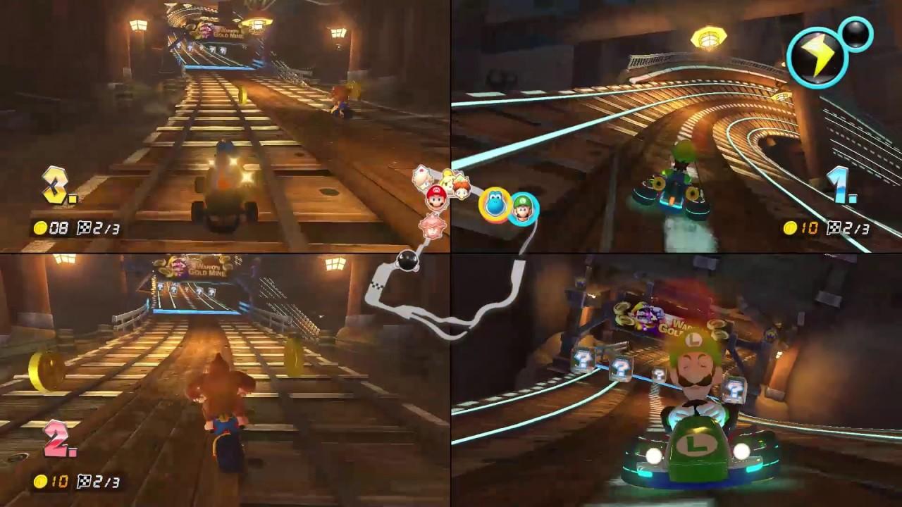 Mario Kart 8 Deluxe Multiplayer Spielszenen Von Der Nintendo Switch