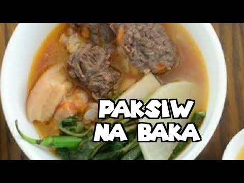 How to Cook PAKSIW NA BAKA   Filipino Sweet and Sour Meat Stew