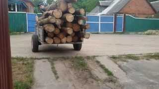 Мотоблок Мотор Сич и самодельный прицеп видео 2(подробнее на сайте - http://promotoblok.ru Мотоблок Мотор Сич и самодельный прицеп заготовка дров видео 1 самодельный..., 2015-07-14T11:12:53.000Z)