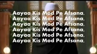Aaya Tere Dar Par-Karaoke(audacity) & Lyrics-Veer Zara