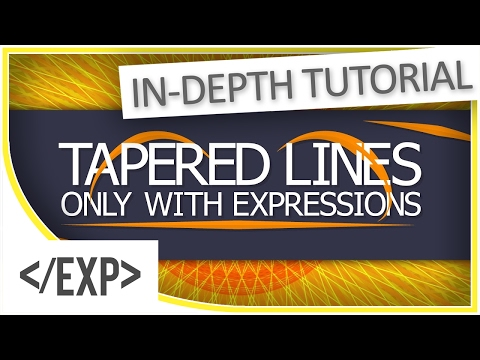 [TUTORIAL] Tapered Line Strokes in After Effects Using Expressions!
