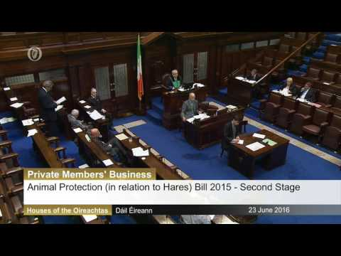 Dr Michael Harty TD: I will be opposing the bill to ban coursing