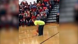 Watch Teen with Down Syndrome Score Half-Court Shot Backwards