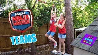 AMERICAN NINJA WARRIOR KIDS TEAMS COURSE! OFFICIAL ANW GEAR FROM TARGET! + MOM FAILING FUNNY MOMENTS