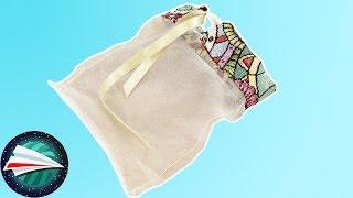 Przezroczysta torebka, woreczek na drobne przedmioty | proste szycie