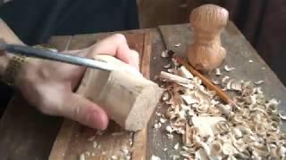 Собачка из дерева - процесс резьбы