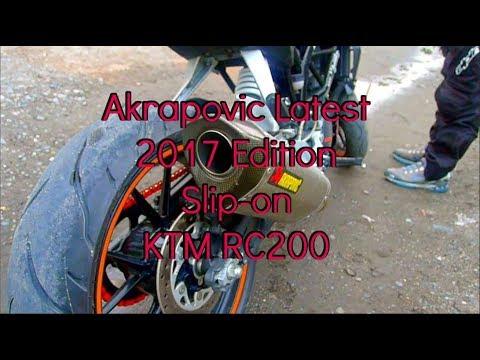 KTM RC 200 Akrapovic Exhaust system