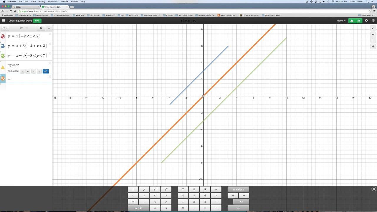 Desmos Linear Equations