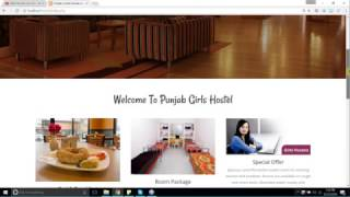 Bootstrap responsive html template for girls hostel site