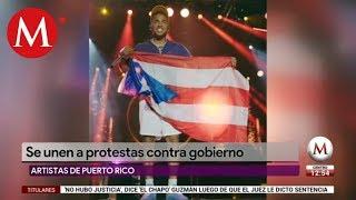 Artistas puertorriqueños se unen a protestas contra gobierno