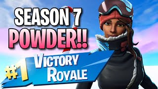 "Season 7 ""Powder"" Skin!! (10 Frag Solo Victory) - Fortnite: Battle Royale Gameplay"