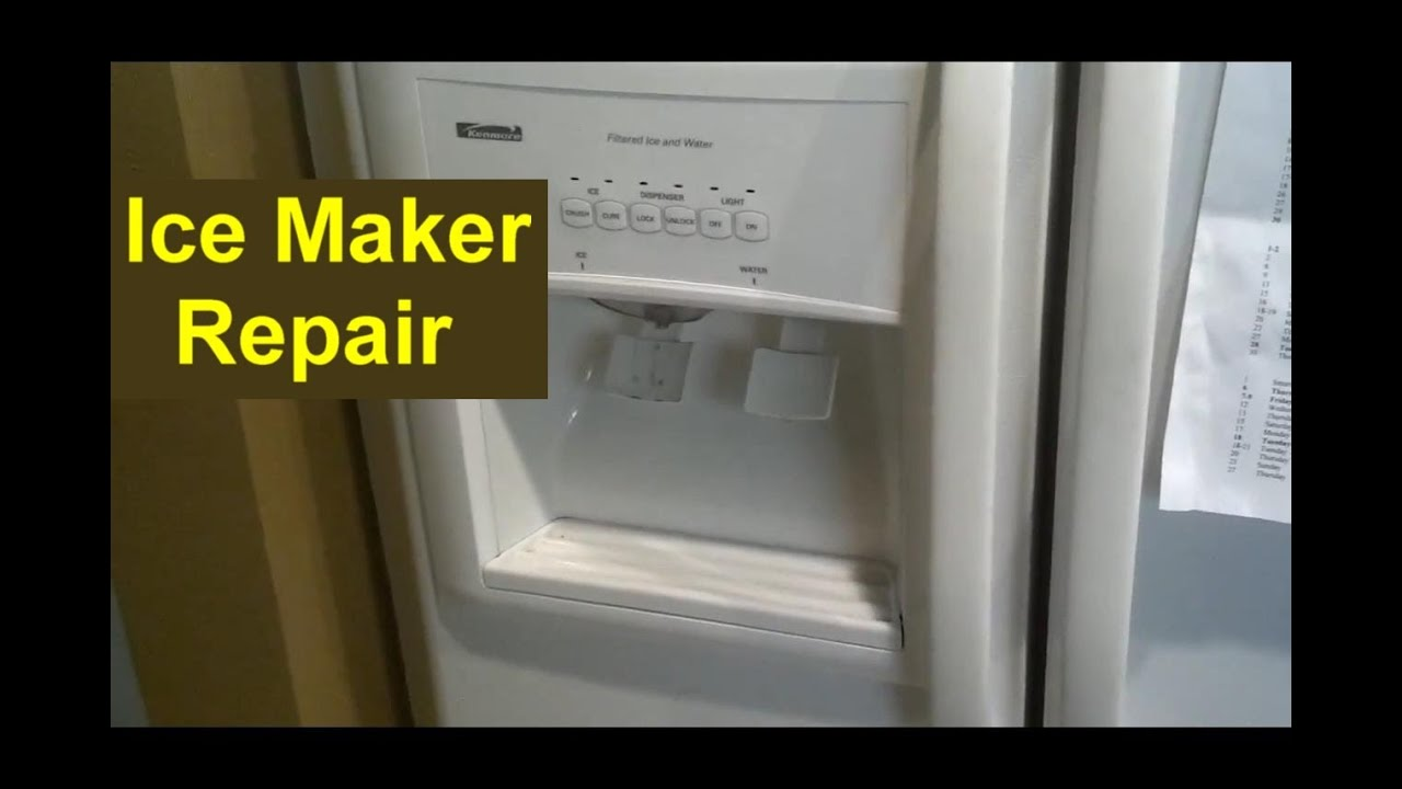 kenmore 106 refrigerator parts diagram 5 function led tailgate light bar wiring coldspot ice maker repair auger pusher home series youtube