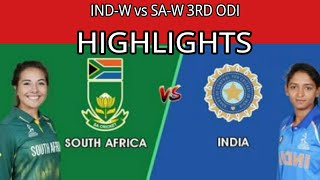 #india_women India Women vs South Africa Women 3rd ODI Highlights: IND W win thriller by six runs