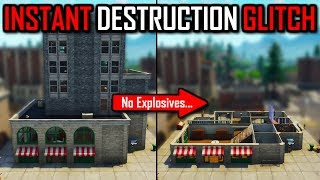 INSTANT DESTRUCTION GLITCH (No Explosives) Fortnite Battle Royale