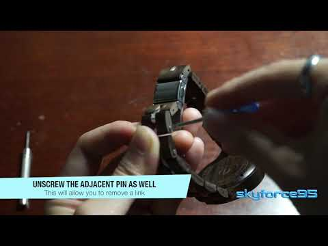 How to Remove Links on DEALENB Analog Quartz Wood Watch