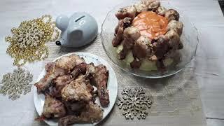 #голенипюре  Ужин в Новогоднюю копилку, когда праздники длятся долго!!