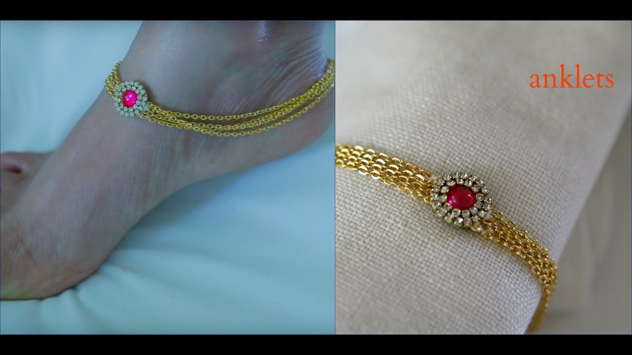 How To Make Anklets At Home - YouTube