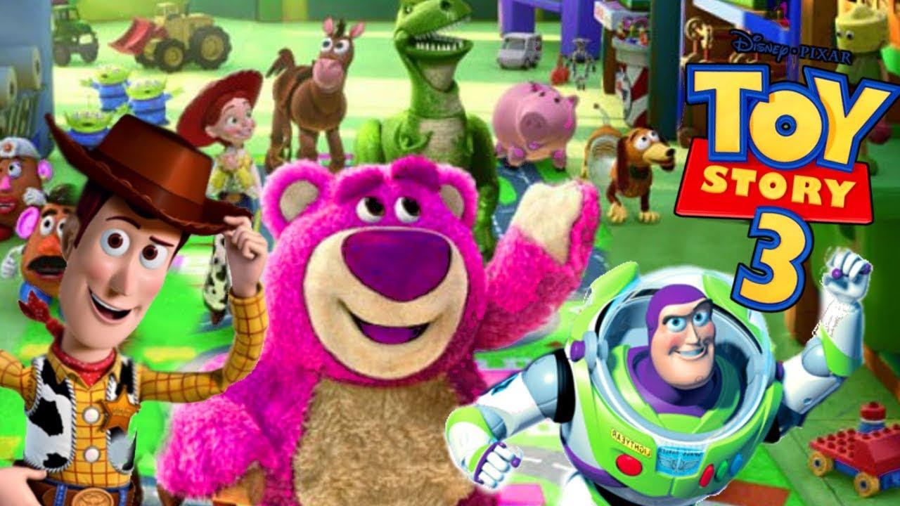 Ver TOY STORY 3 ESPAÑOL PELICULA COMPLETA del juego (personajes de pelicula Toy Story Buzz Jessie Rex) en Español