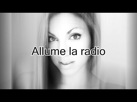 SARA'H - Subeme la radio French version | Karaoké instrumental ( Paroles / Lyrics )