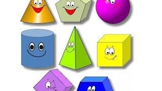 Учим Геометрические фигуры Круг Квадрат Треугольник Прямоугольник Овал Ромб. Learn Geometric shapes