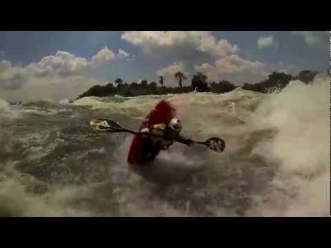 GoPro Kayaking: Big Wave Surfing - White Nile, Uganda - Africa