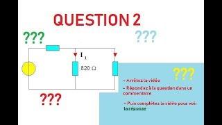 Question 2 : Que peut-on dire de l'intensité des courants électriques I1 et I2 ?