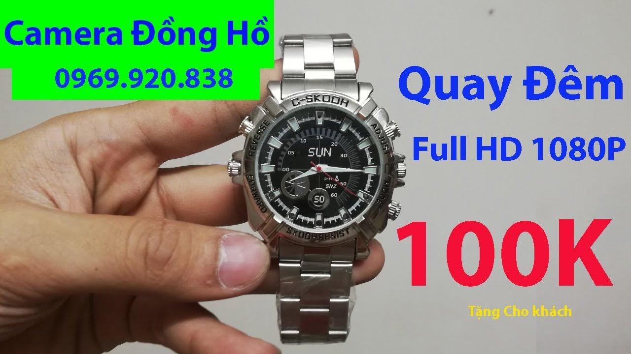 Hướng Dẫn Sử Dụng Camera Ngụy Trang Đồng Hồ Đeo Tay 8GB Bằng Kim Loại, Full HD 1080P, Quay Đêm