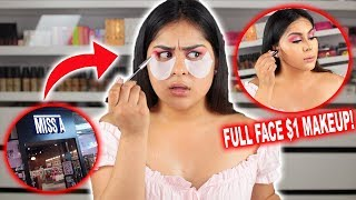 Trying $1 Makeup From MISS A!  *FULL FACE* Mind Blown!!